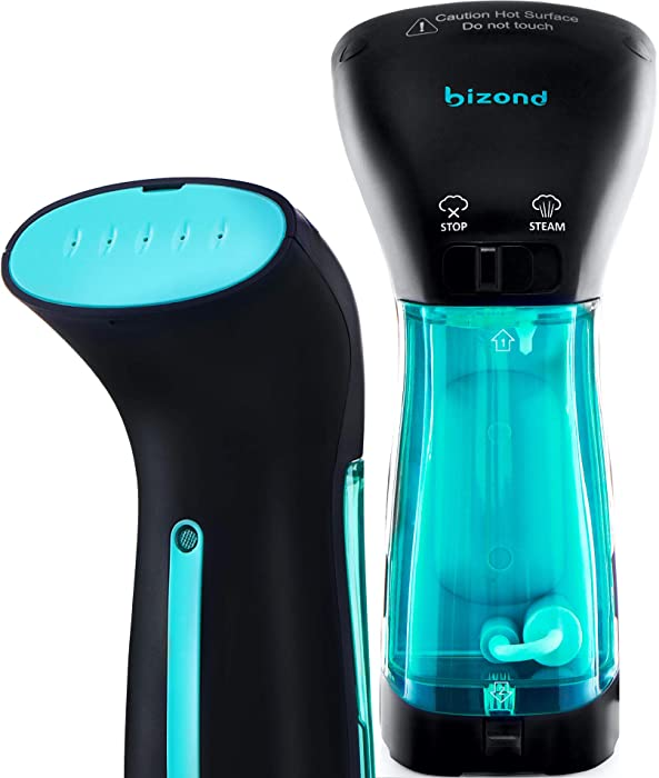 BIZOND Steamer for Clothes Travel and Home - Portable, Handheld Steamer for Garment and Fabric - No Spitting, Safe and Little Handy - Compact Mini Steamer for Clothing and Curtain with Accessories