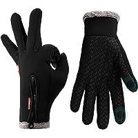 Lzfitpot Cykelhandskar vinter, supervarm och mjuk cykelhandskar män kvinnor, pekskärm handskar, vattentäta, vindtäta och…