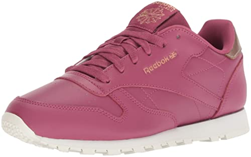 Reebok Baby Classic Leather Sneaker, Rum-Twisted Berry/Chalk, 7.5 M US Toddler