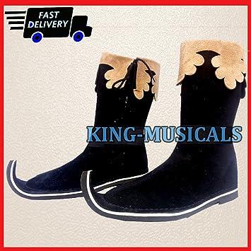 Re-enactment Renaissance Pirate Shoes Men/'s Long Boot Medieval Leather Boots