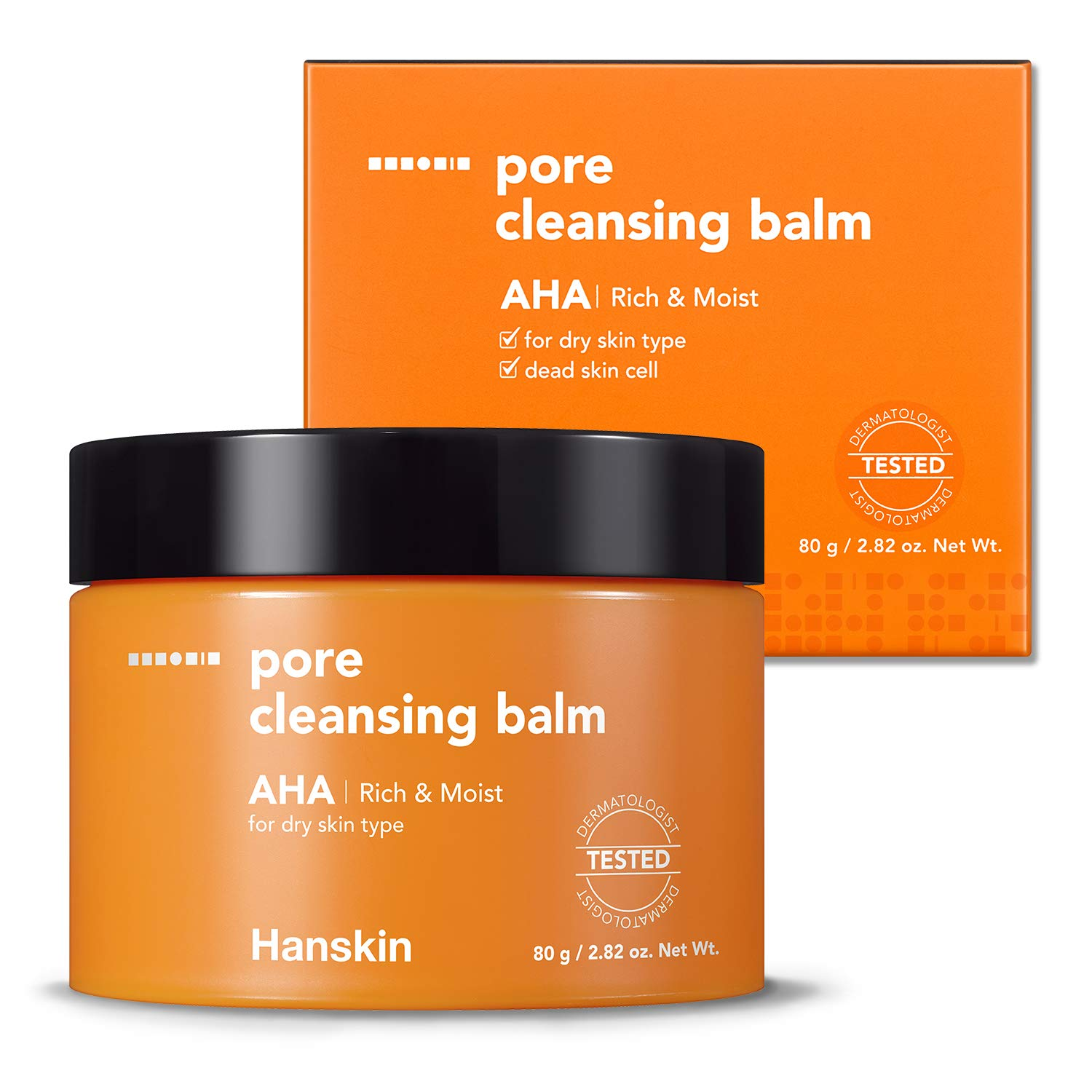 Hanskin AHA Pore Cleansing Balm, Gentle Blackhead Cleanser and Makeup Remover for Dry Skin - Official 2019 Exclusive USA Exported Version [AHA/2.82 oz]
