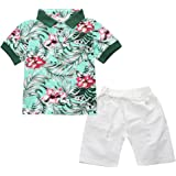 c0c415c40a Infant and Toddler Baby Boys Kids Hawaiian Shirt and Ripped Shorts Clothing  Set