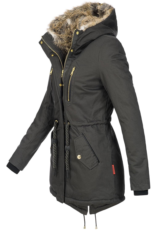 c22220f7c2266a Navahoo warme Damen Winter Jacke lang Teddyfell Winterjacke Parka Mantel  B648  Amazon.de  Bekleidung