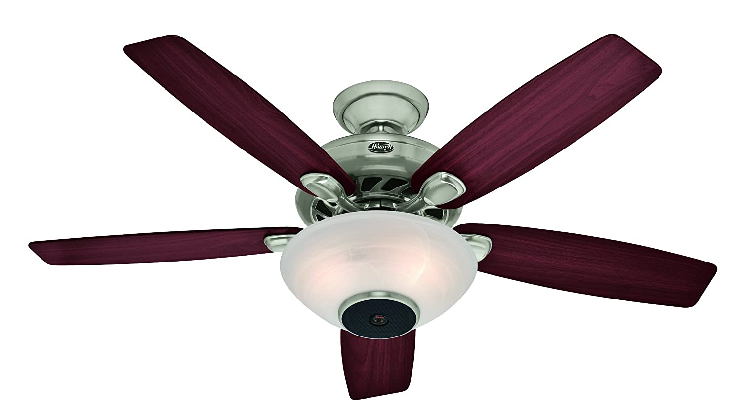 Hunter 21629 52 Inch Concert Breeze Ceiling Fan With Wireless Sound System Brushed Nickel Surround Com