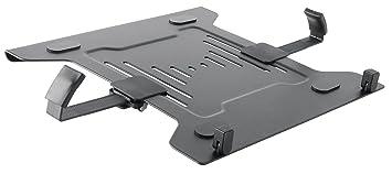 Manhattan 461498 Notebook Stand Negro Soporte para Ordenador portátil - Soporte de Regazo para portátiles y