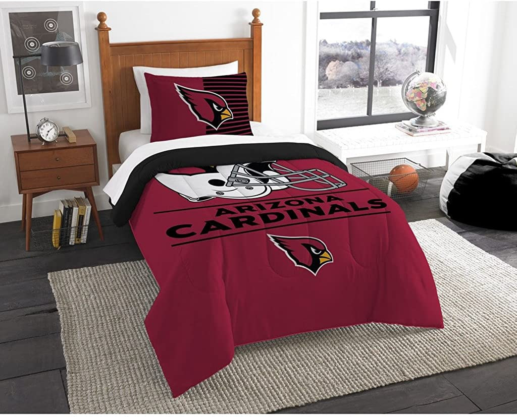 The Northwest Company NFL Arizona Cardinals Twin Comforter and Sham, One Size, Multicolor