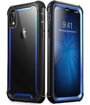 i-Blason - Carcasa para iPhone XR (Protector de Pantalla Integrado, 2018, Apertura 2018, Incluye Protector de Pantalla), Color Azul