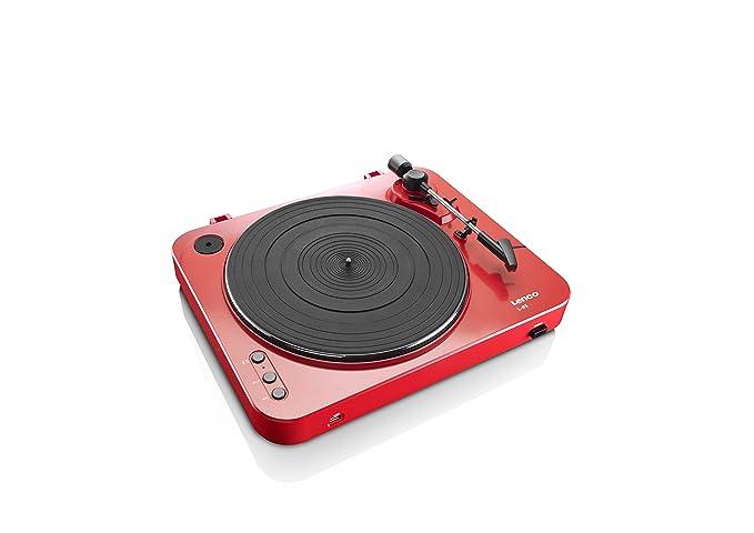 Lenco L-85 RD - Tocadiscos para Equipo de Audio (MP3, USB), Rojo ...