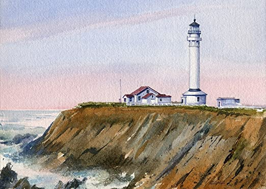 Point Arena Light lighthouse in Mendocino County California Photo Print