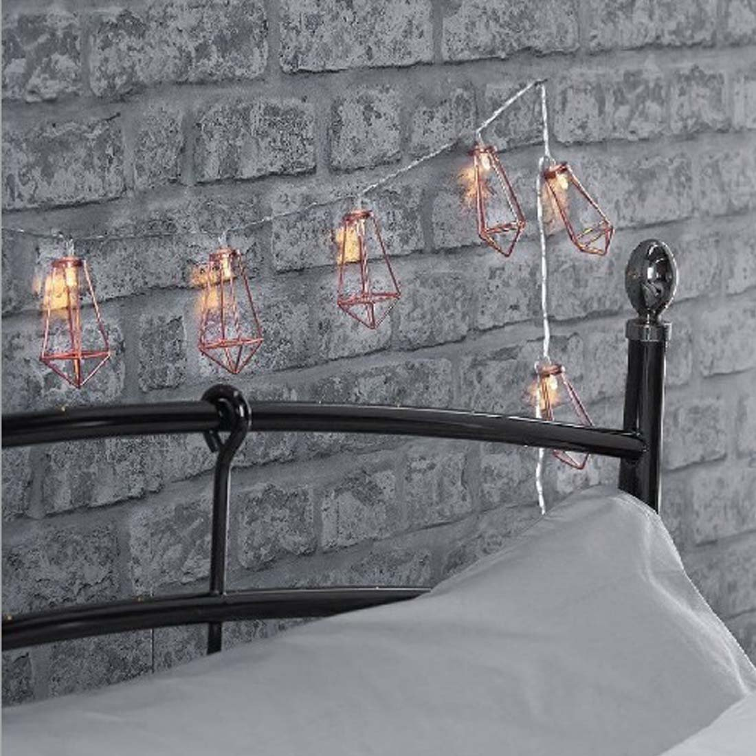 String Light Company Party Light 11-Ft String Lights with 10 Sockets C71110BLK 20 Gauge Black Cord Pack of 4
