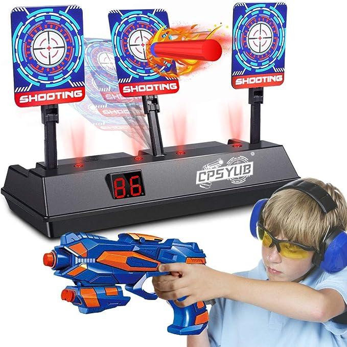 NERF Elite Digital Target Interactive Scoreboard with Blaster Sounds Lights