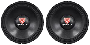 "Rockville RVP12W8 1200w 12"" Pro Subwoofers 8 Ohm Raw Sub Woofers 40 Oz Magnets"