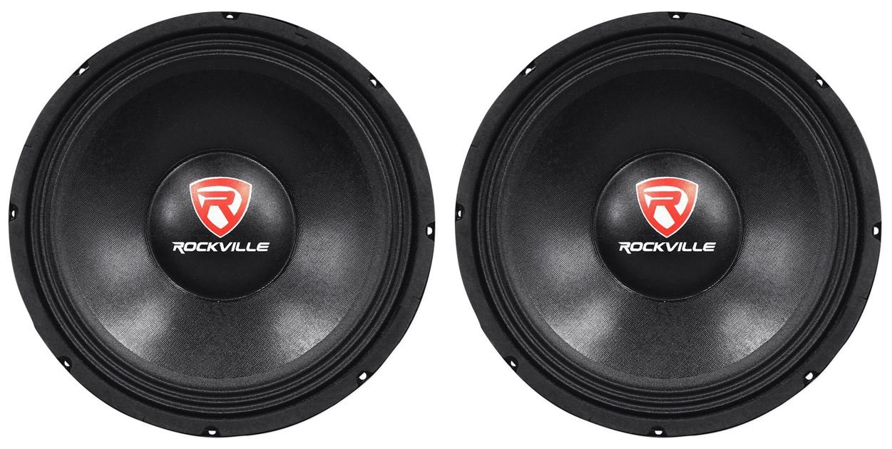 Rockville RVP12W8 1200w 12'' Pro Subwoofers 8 Ohm Raw Sub Woofers 40 Oz Magnets