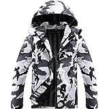 Men's Lightweight Waterproof Hooded Rain Jacket Outdoor Raincoat Shell Jacket for Hiking Travel