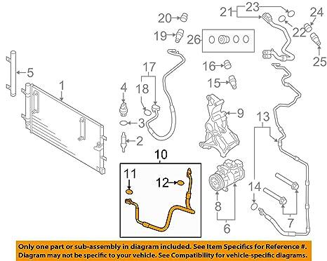 Audi A4 B8 refrigerante manguera de aire con compresor para condensador