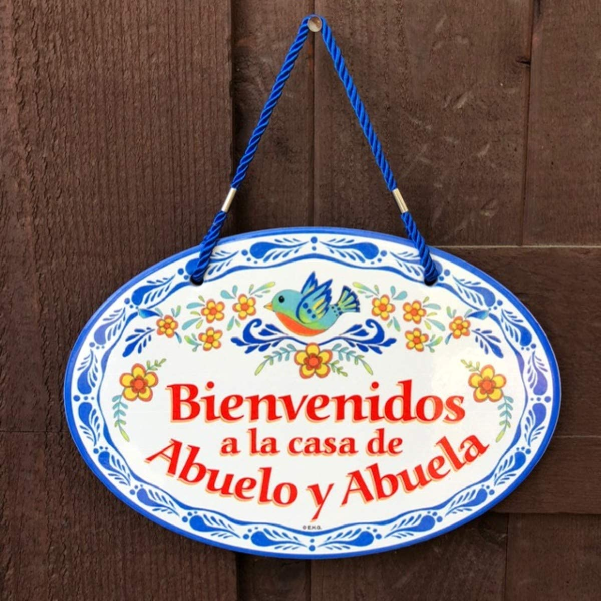 Essence of Europe Gifts EHG Bienvenidos a la Casa de Abuelo y Abuela Latino Traditional Artwork Spanish Welcome to Grandpa & Grandmas House 11x8 ...