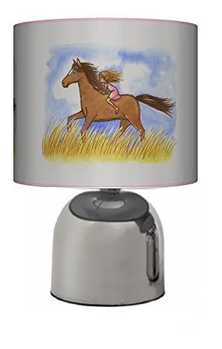 Girl riding horse pony bedside touch lamp girls bedroom light girl riding horse pony bedside touch lamp girls bedroom light lamp shade aloadofball Image collections
