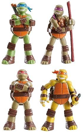 Set de 4 Figuras para decoración de tortas TMNT Tortugas ...