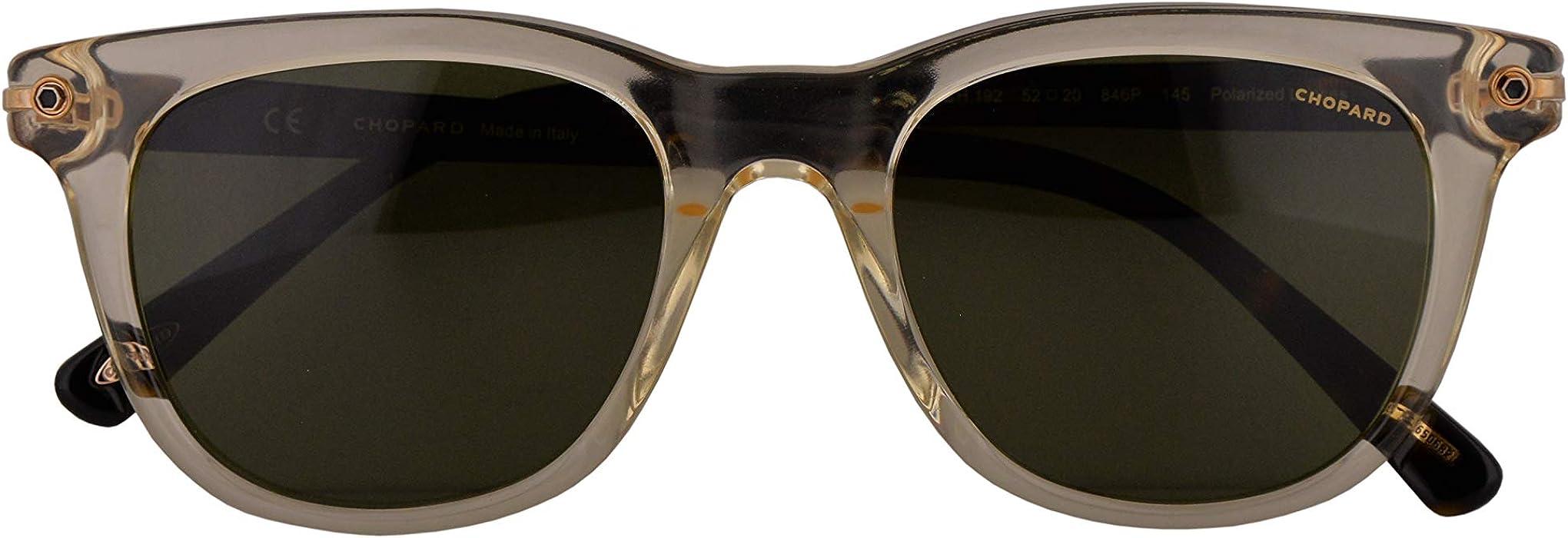 a4c14e1a4e SCH192 Sunglasses Crystal Yellow w Polarized Green Lens 52mm 846P SCH 192