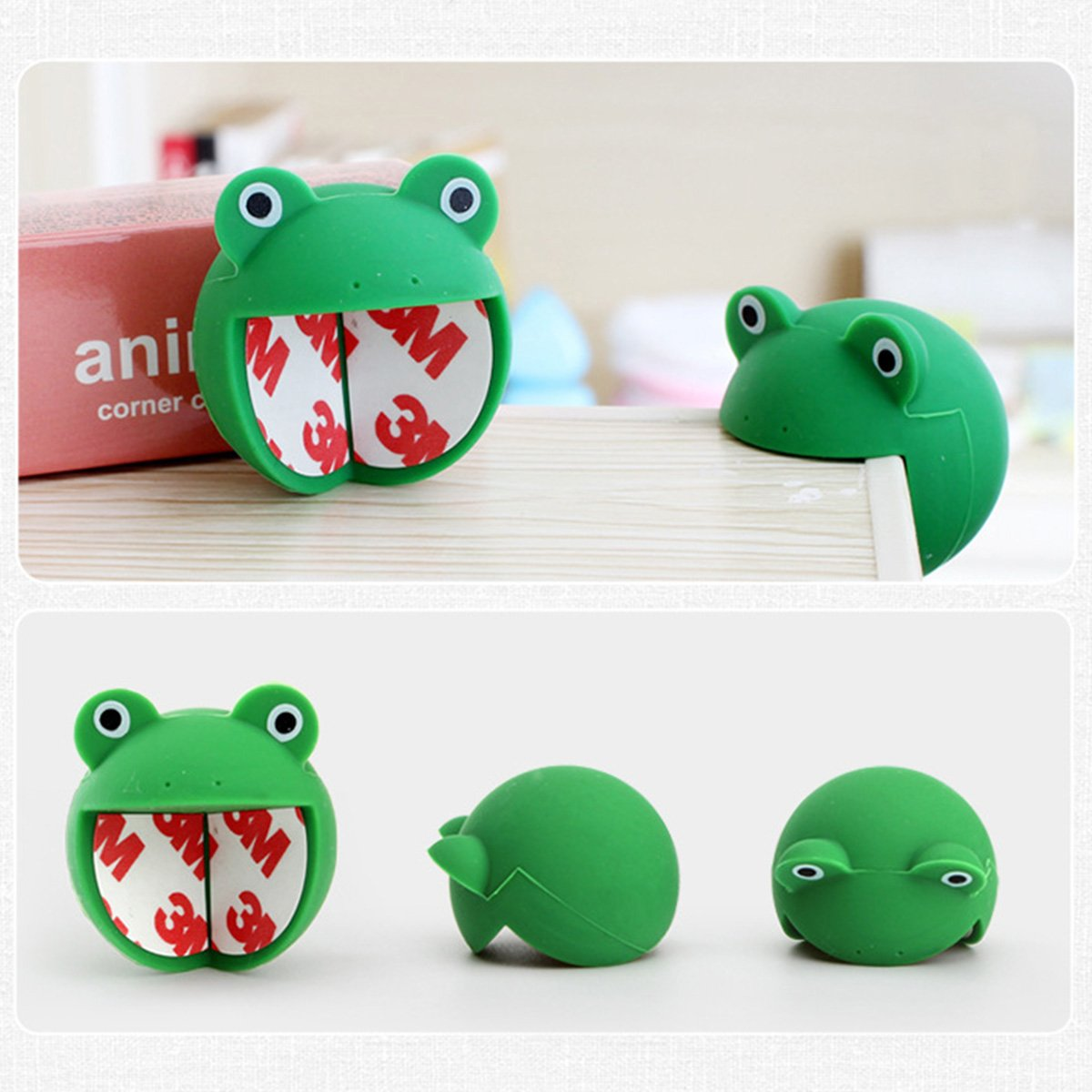 Sasairy Lot de 4 Pcs Prot/ège Coin de Table Forme en Animals Protections dAngles et Rebords pour Protection de B/éb/é Enfants
