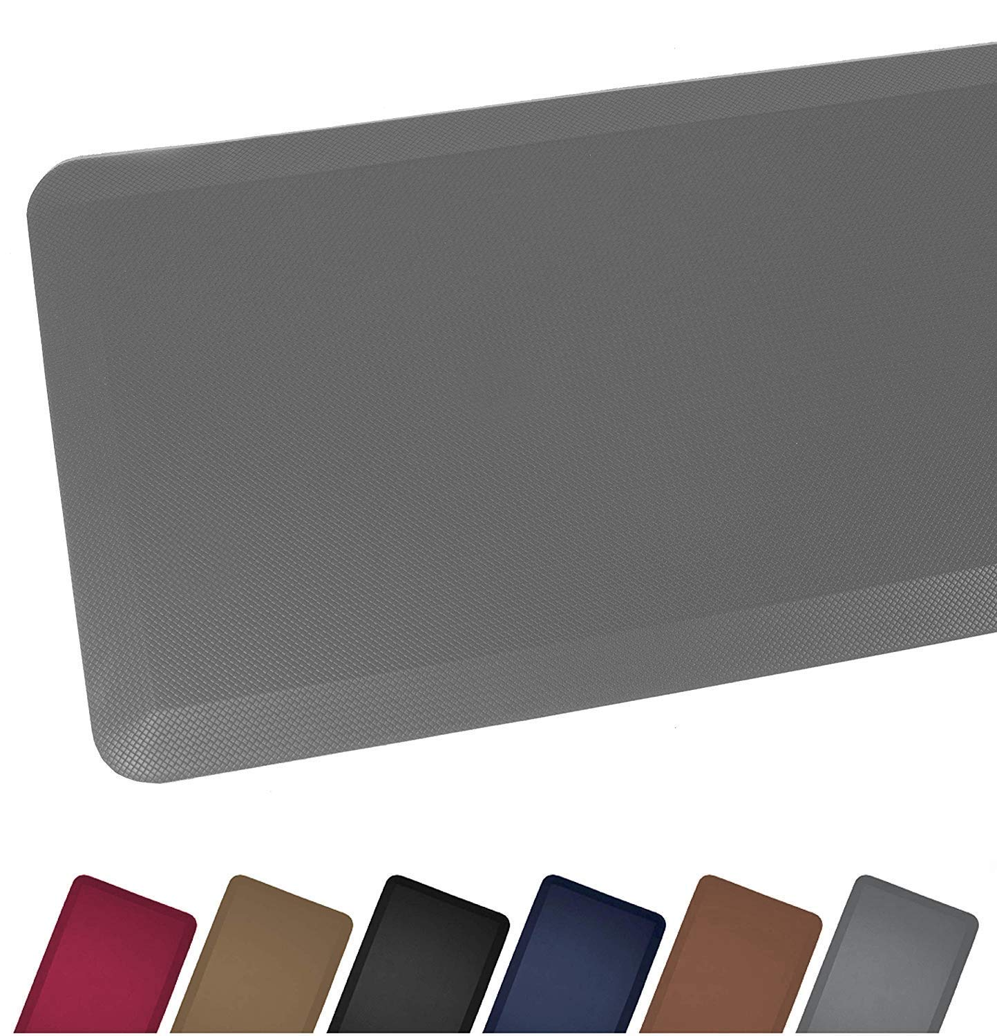 "Sky Mat, Comfort Anti Fatigue Mat 20 x 39 x 3/4"", 7 Colors and 3 Sizes, Perfect for Kitchens and Standing Desks, Gray/Grey"