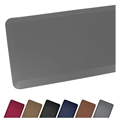 Sky Mat, Comfort Anti Fatigue Mat 20 x 39 x 3/4 , 7 Colors and 3 Sizes, Perfect for Kitchens and Standing Desks, Gray/Grey