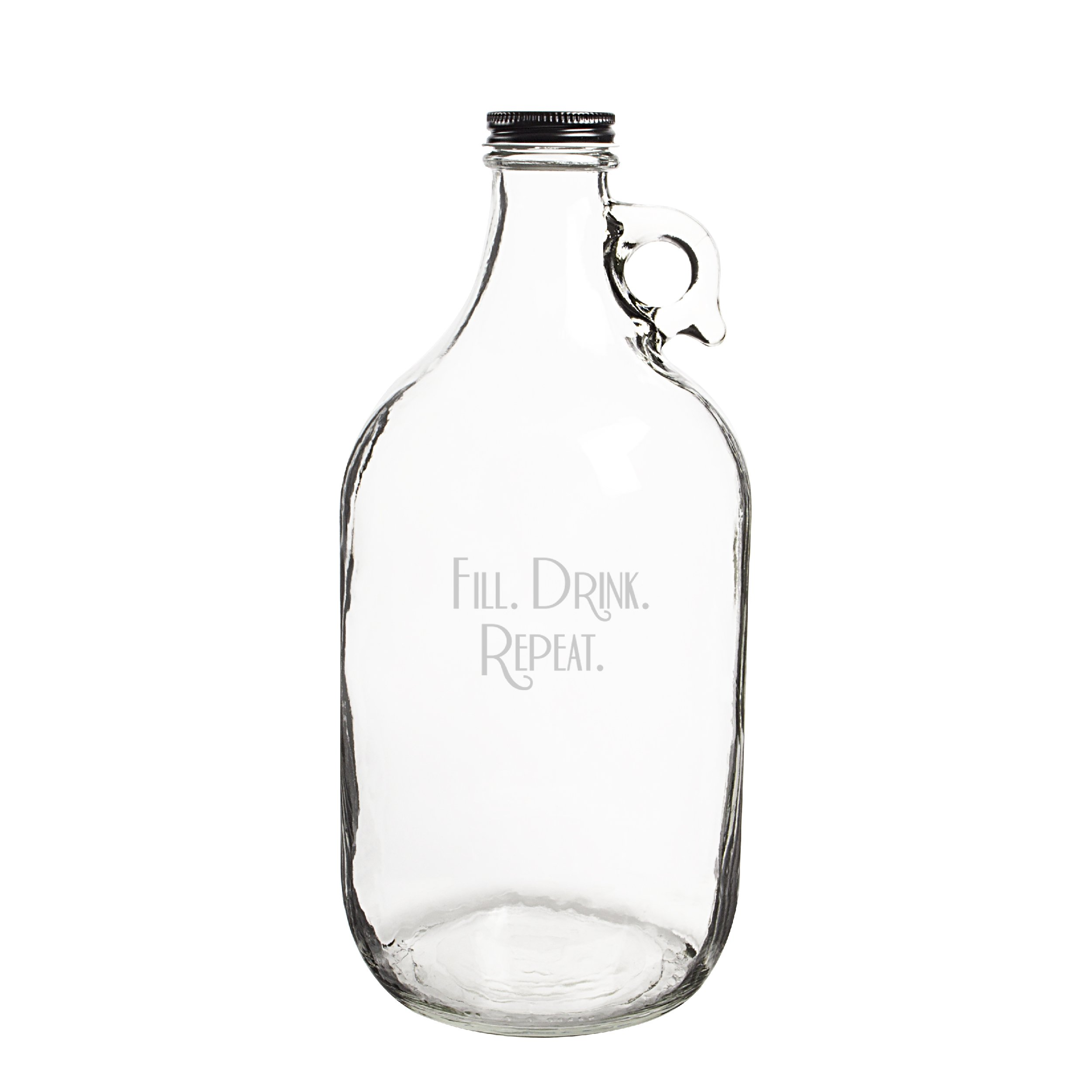 Cathy's Concepts''Fill. Drink. Repeat.'' Craft Beer Growler, Clear