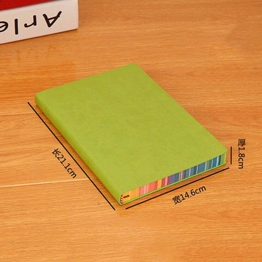 odefc Notebook Stationery A5 Biglietto da visita creativo Biglietto da visita aziendale B5 Big Book in pelle morbida ( Colore : BlackA5 , dimensioni : *3 )