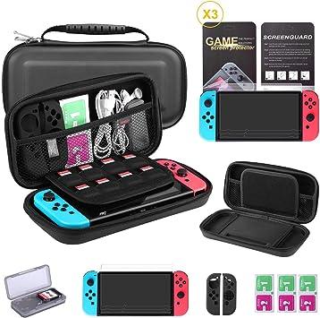 Bestico - Juego de protectores para Nintendo Switch, incluye funda ...