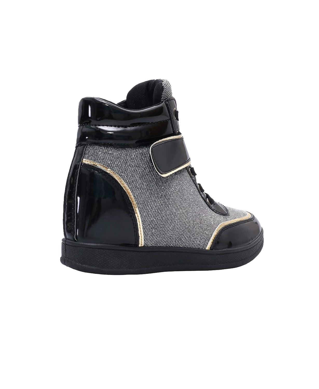 KRISP Women Hi Top Trainers Spring Fashion Sneakers  Amazon.co.uk  Shoes    Bags 2b1e63004