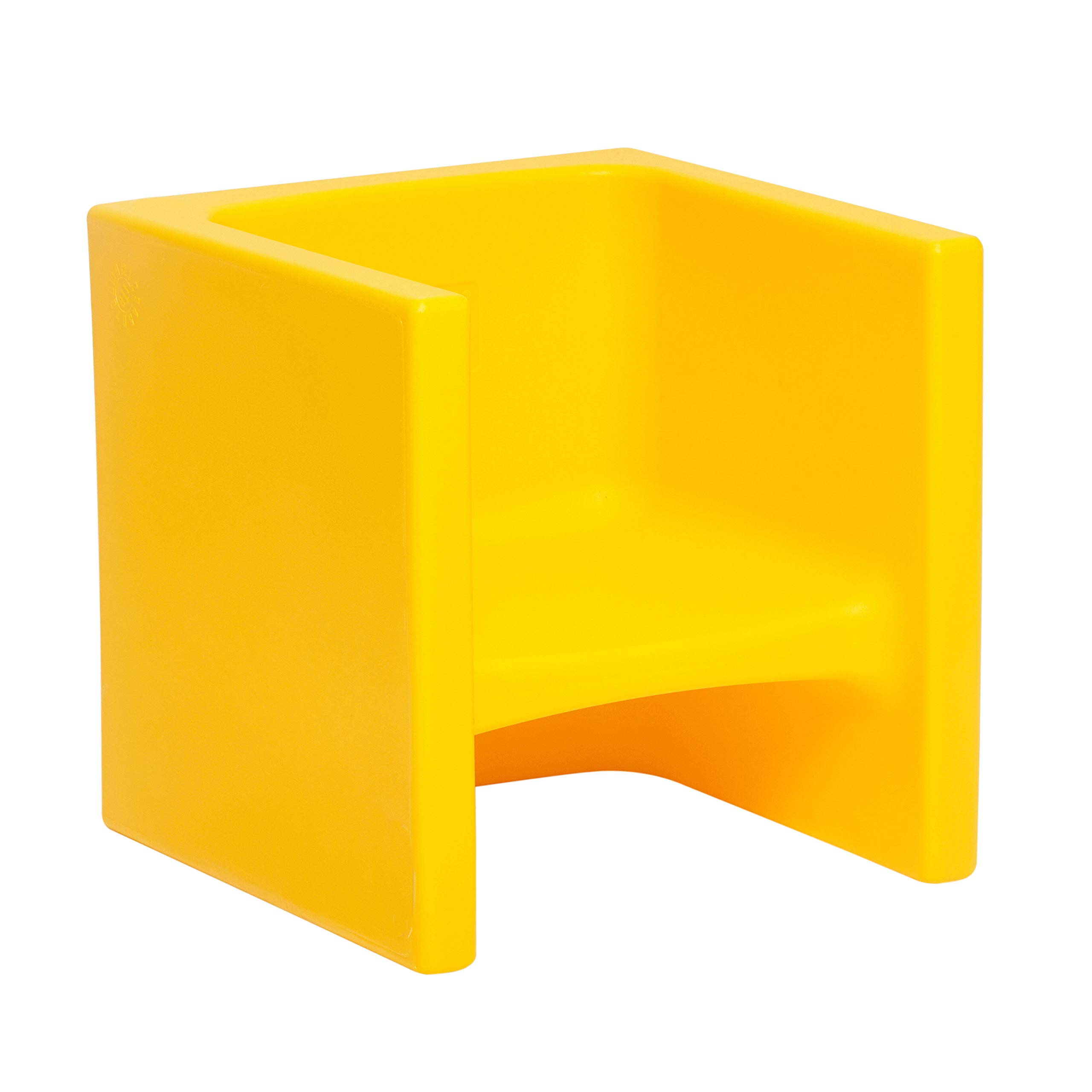 ECR4Kids Tri-Me 3-in-1 Cube Chair, Portable Indoor/Outdoor Play Seat or Table for Kids and Toddlers, Yellow by ECR4Kids
