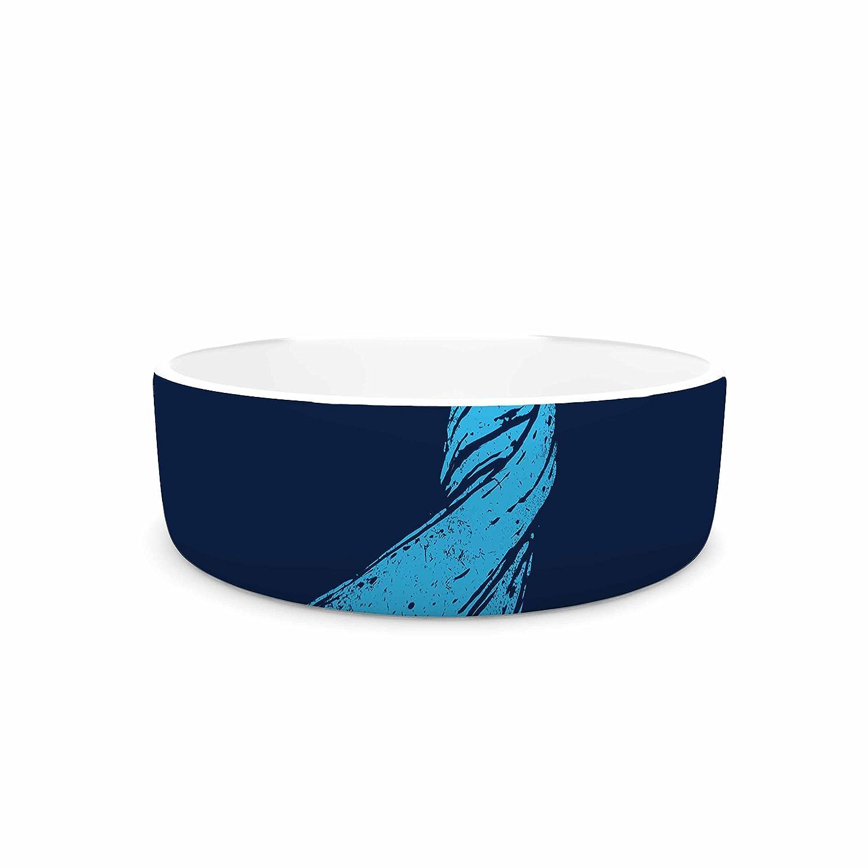 7\ KESS InHouse Barmalisirtb Welcomes Peace  bluee Illustration Pet Bowl, 7