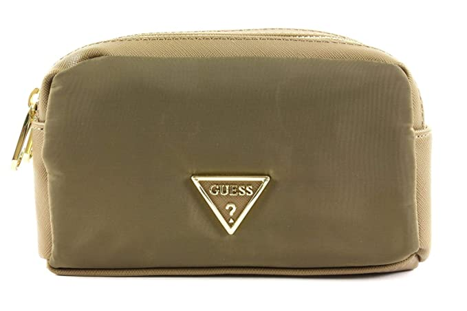 Guess Did I Say 90s? Beauty Bag Olive Green: Amazon.it
