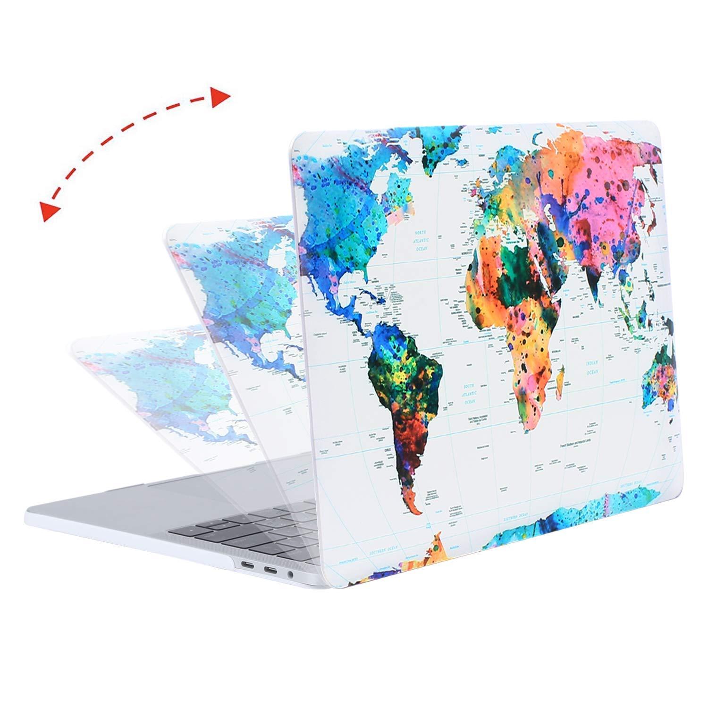 M/ármol de Ola Creativo Protector de Pl/ástico/&Piel de Teclado de Mismo Color/&Protector de Pantalla MOSISO Funda Dura Compatible 2019 2018 2017 2016 MacBook Pro 13 con//sin Touch Bar A1989 A1706 A1708