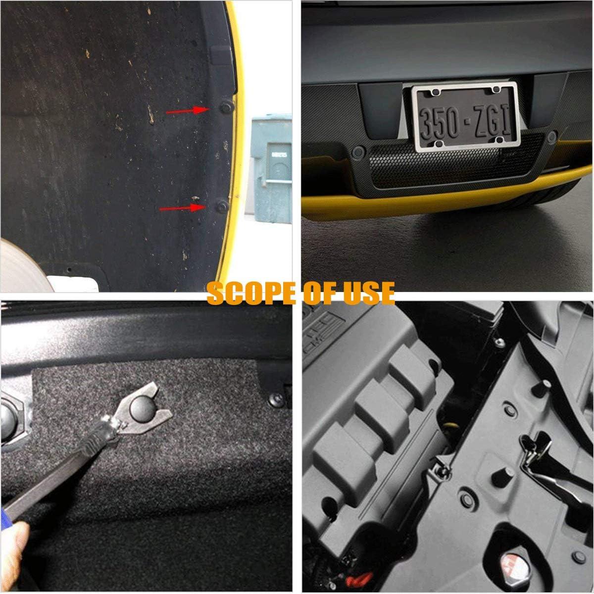 Dophee 50 Pcs 6mm Hole Car Push Type Plastic Rivet Trim Panel Fastener Clips for Toyota