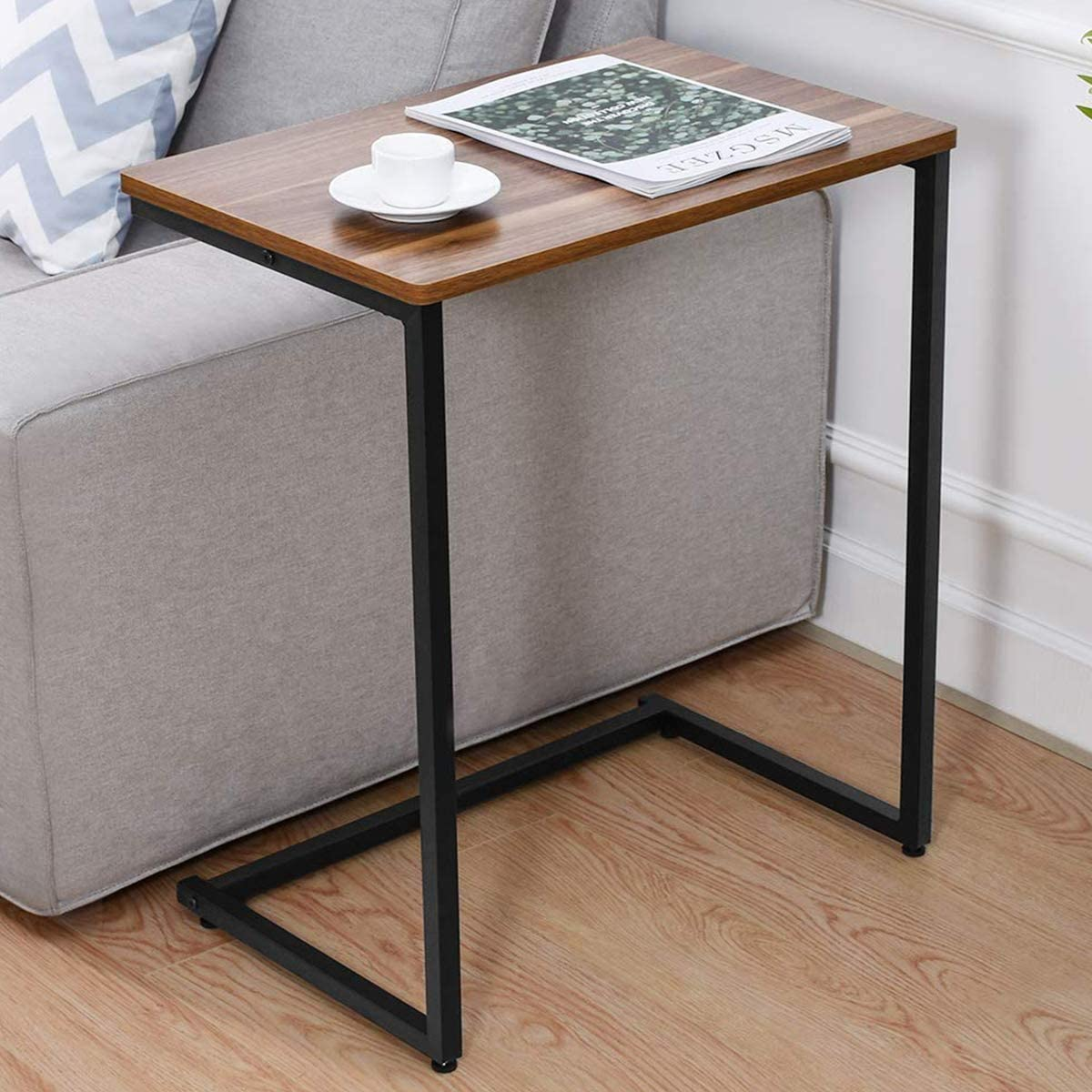 Sofa Side End Table C Table Multiple Standing Desk, 26-Inch Standing Work Desk for Small Space