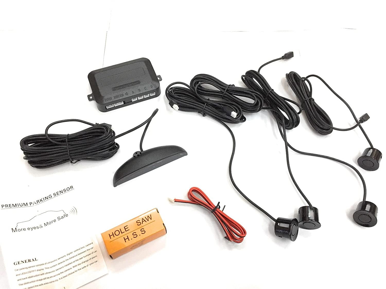 ProDigital_Moto 49561 - Juego de 4 sensores de aparcamiento con señal acústica y pantalla LED: Amazon.es: Electrónica