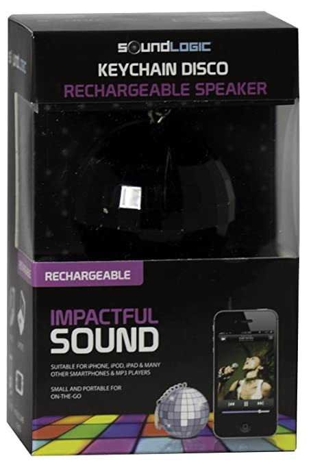 Amazon.com: soundlogic disco-ball altavoz recargable llavero ...