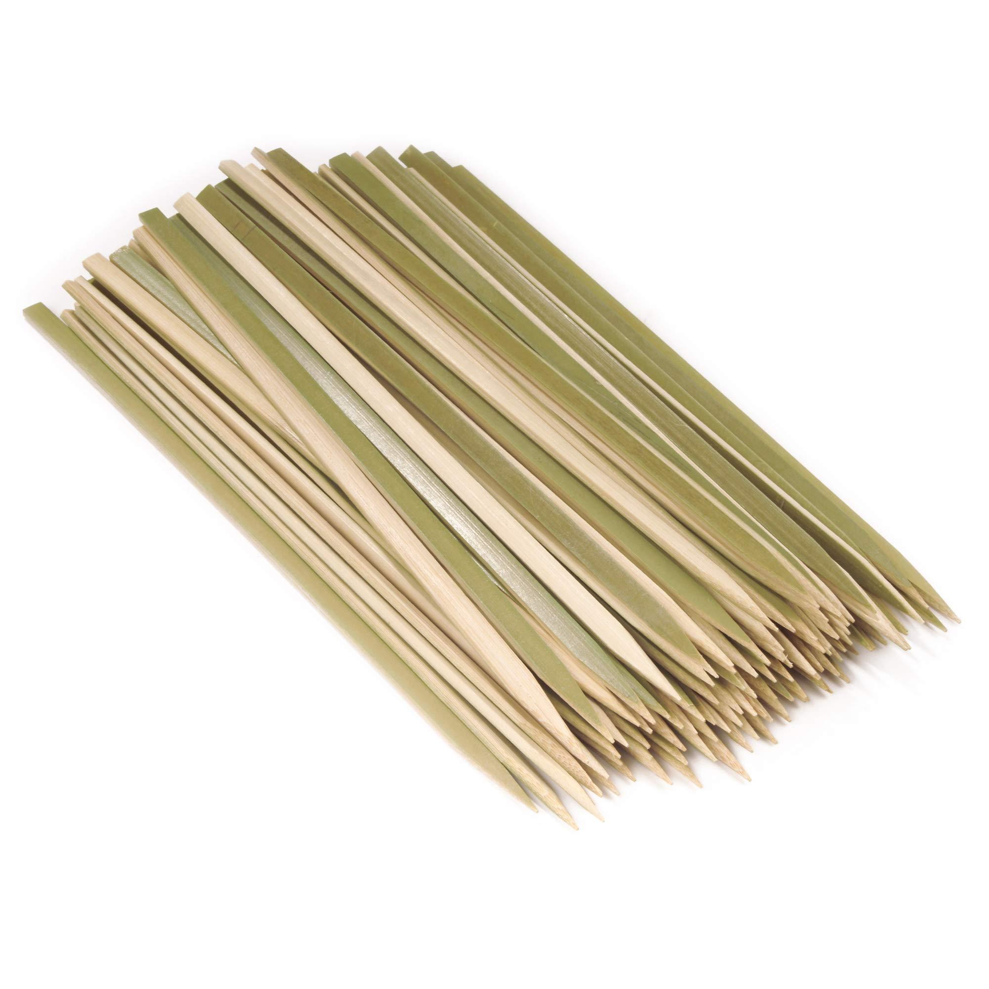 BambooMN Brand - Premium Flat Style Bamboo Wood BBQ Kebab Meat and Fruit Food Skewers, 10'' - 1,000 pcs