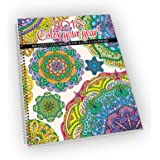 "2018 Calendar - Adult Coloring Calendar/Planner - Spiral Bound - Designer Organizer 8.5"" x 11"" Planning Calendar and Coloring Book"
