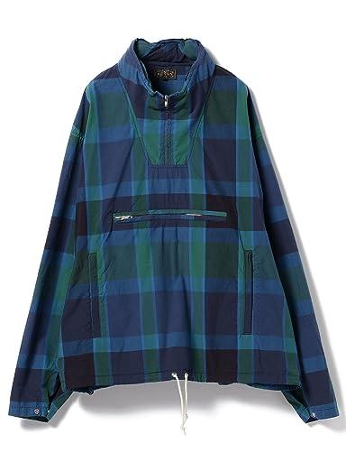 Madras Pullover Parka 11-18-4035-139: Navy / Blue / Green