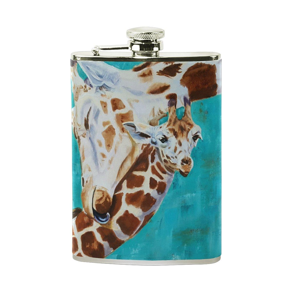 【レビューを書けば送料当店負担】 deyyaメンズGiraffe with Glassesステンレス鋼ポケットヒップフラスコワインウイスキーポットDrinking Spirits B0794ZQF1T Liquor with Spirits One Size Multi#003 B0794ZQF1T, カナザワシ:35ea06b3 --- a0267596.xsph.ru