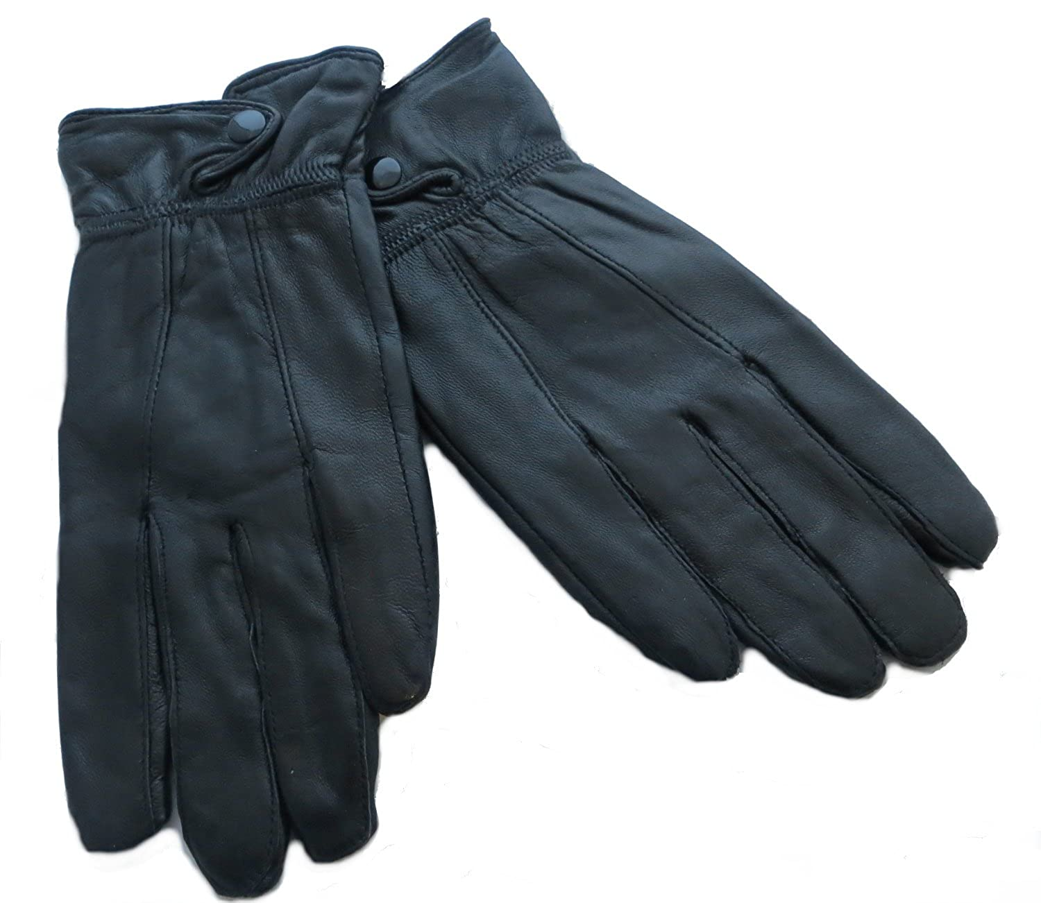 Black leather gloves with fur - Ladies Leather Gloves Black Or Brown Available Black S M