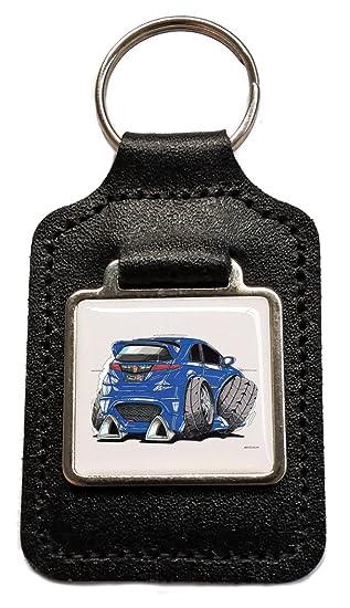 Honda Civic Tipo R azul caricatura - Llavero de piel oficial ...