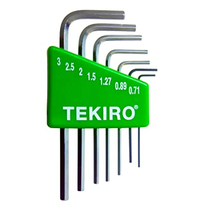 Tekiro 7 Piece Mini L-Key Short Hex Metric Set