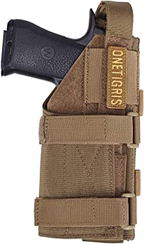 OneTigris Holster de menottes en cuir avec double boutons-pression.