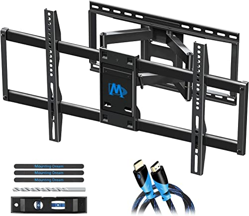 Mounting Dream TV Wall Mount TV Bracket for 42-84 Inch TVs, Universal Full Motion TV Mount with Articulating Arms, Max VESA 800x400mm 132 lbs. Loading, Easy to Install on 16 , 18 , 24 Studs MD2298-XL