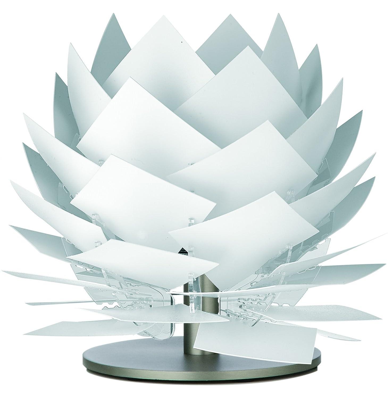 Nachttisch-Lampe für Schlafzimmer Wohnzimmer Kinderzimmer Tischlampe Lampen-Schirm weiß deko Beleuchtung Design Tischleuchte Durchmesser: 18cm HöheTischlampe