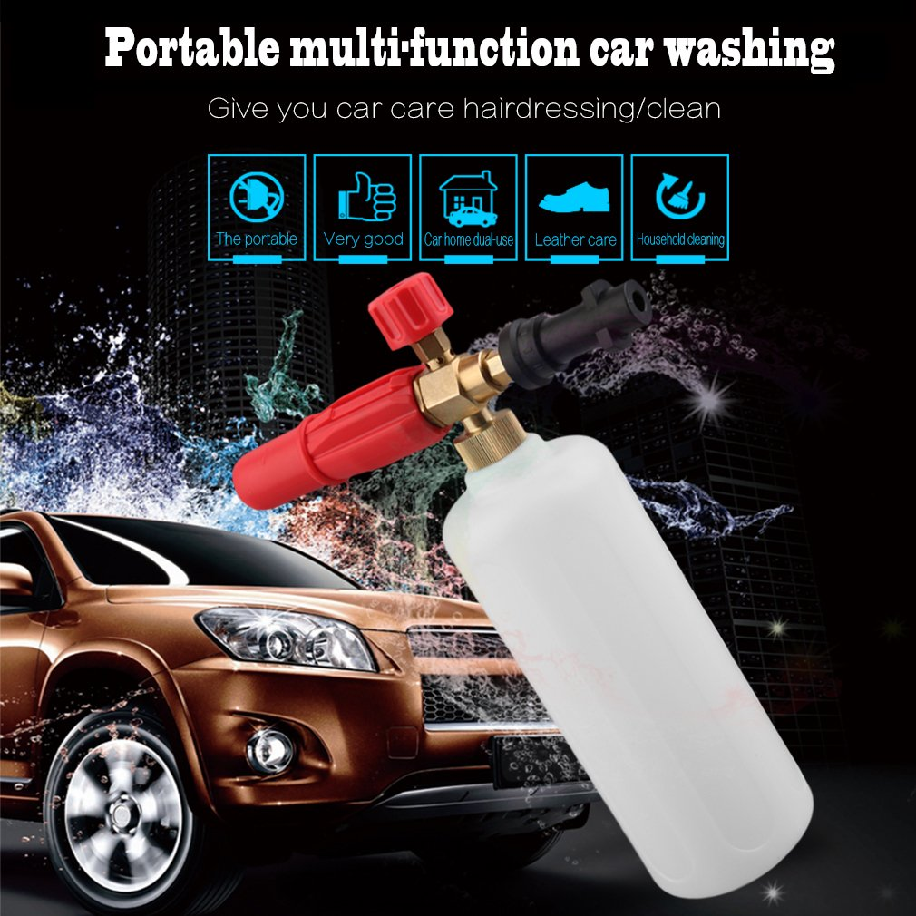 Burrby HD Brass Karcher Foam Lance Gun,Snow Foam With 1L Measuring Bottle For Karcher K Series For Car Valeting Cleaning