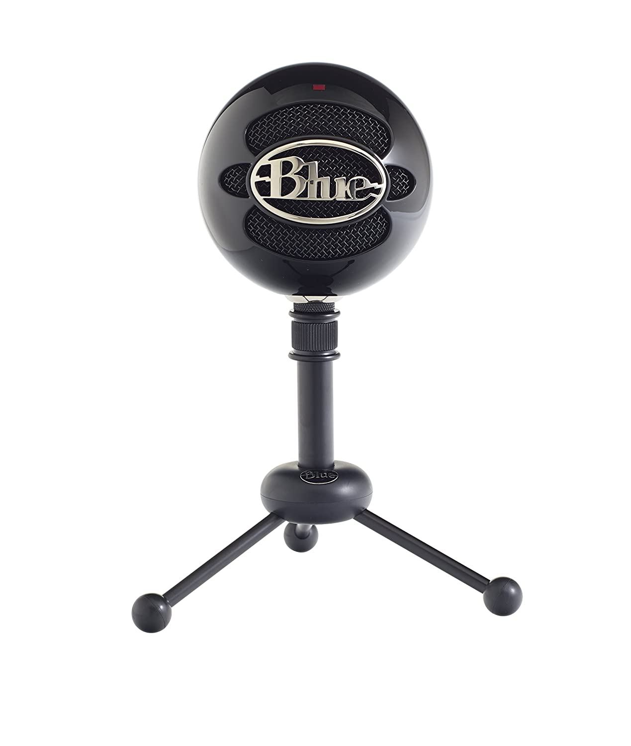 Blue Snowball Usb Microphone Gloss Black Musical Circuit Design Reproduce Sound Signals Captured Through A Instruments